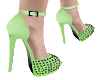 LimeGreenBlackBlingShoes