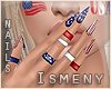 [Is] 4th July Nails +