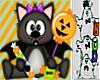 Cat Halloween wand