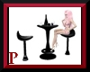 Sleek Black Bar Table