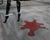 PUDDLE OF BLOOD