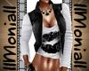 MI Denim waistcoat Black