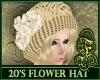 20's Hat White Roses