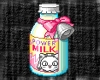 Cute kitty with milk