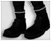 ☯Black Boots+Socks☯