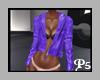 P5*Purple Leather Jacket