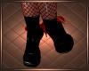Latex Maid Pumps Black