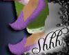 **Deep Purple Slippers