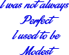 I am perfect in Blue