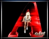 Letter A red With Pose