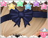 ! Navy Blue Bow Band