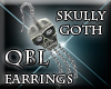 Skully Goth Earrings