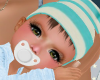 Baby striped beanie