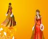 Royal Orange Winter Gown