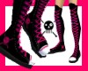 Pink Skully Thigh Highs