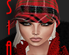 SAI<O>RED PLAID SNOW HAT