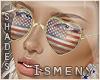 [Is] I ♥ USA Glasses