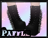 P| Spiked Boots Black