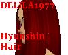 Hyunshin hair-dark red