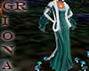 GR 2 Medival Teal Gown