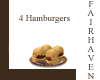 LF 4 Hamburgers