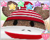 ! Sock Monkey Hat Costum