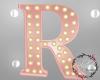 Rose Gold Letter Lamp R