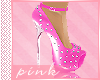 PINK- PINK SPIKES-HEELS