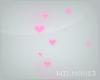 V~| Pink hearts sparkle