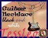 guitar necklace black an