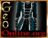 Geo Dress Uniform Teal