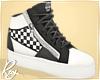 Black+White Checker Zips