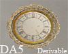 (A) Frill Trim Clock