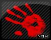 [N74] Hand Print Blood
