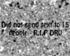 Dru's Tombstone