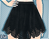 L| Black Lace Skirt