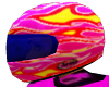 Pink Racing Helmet