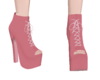 Pink Tied Heels