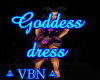 Goddess dress purple dar