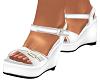 White Clarissa Sandals