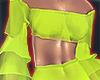 I│Ruffle CropTop Lime2