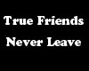 True Friends Never Leave
