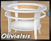 *OI* White End Table