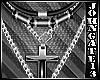Leather Chain & Cross Ne