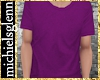 Casual t-shirt purple