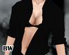 Silk Open Black Shirt fm