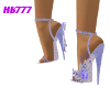 HB777 SFF Heels Blu/Slvr