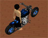 Blue Dragon Flames Bike