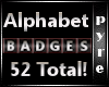 52 BLACK Badges Sale