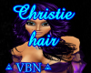 Christie hair purple dar